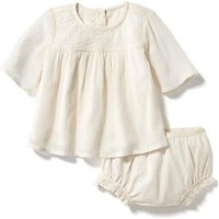 Woven Lace Detail Set for Baby Girl