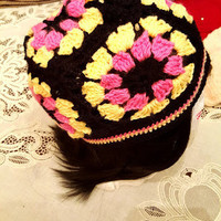 "M/L Multi Colored ""Handmade"" Crochet Beanie. Unisex Accessories. Ready to Ship"