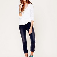 Free People Womens Skinny Pull On Crop - Abyss, 2