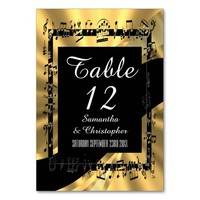 Black and gold personalized