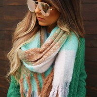 Winter Nights Scarf: Mint/Multi