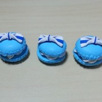 3 pcs Round Macarons Flatback Polymer Clay Cabochon Decoden 22 x 22 mm