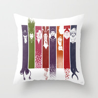 Disney Villains Throw Pillow by Meder Taabaldiev | Society6