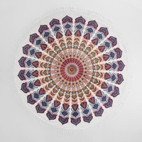 6ft Multicolor Medallion Cotton Festival Blanket