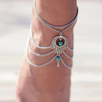 Women's Exotic Style Multi-Layered Anklet