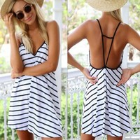 💘HOST PICK💘 Loose Casual Beach Sun Mini Dress