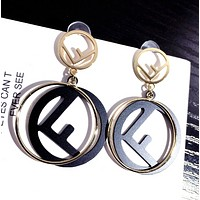 Fendi New fashion letter long earring women accessories