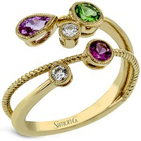 "Simon G. ""Modern Enchantment"" Mutli-Color Gemstone Ring"