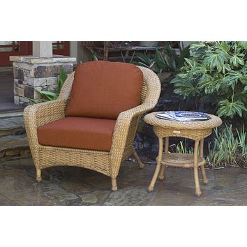 Tortuga Outdoors Lexington Club Chair and Side Table