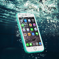 Brand Shockproof Dustproof Underwater Diving Waterproof 360 Full Cover Phone Cases Cover For iPhone 5S 6 6S 6 Plus 4.7 5.5 inch