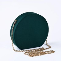 Wallike 2018 Velour Round Woman HandBag Small Clutch Crossbody Evening Bags Pouch Messenger Ladies Velvet Chain Party Bag Purse