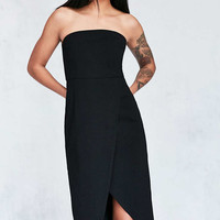 Silence + Noise Structured Strapless Midi Dress - Urban Outfitters