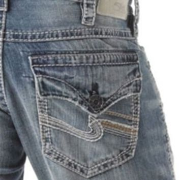 Silver Jeans Zac Flap Relaxed Straight for Men M42404LD184
