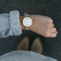 The Awristacrat | Gold Case Nude Band 36mm