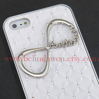 Iphone 5 Case, One Direction iphone case, Infinity iphone case, white and clear hard case