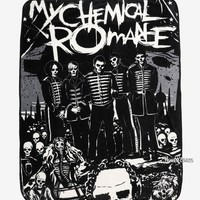 "Licensed cool My Chemical Romance Group The Black Parade Super Plush Throw Blanket 48""x60"" NWT"