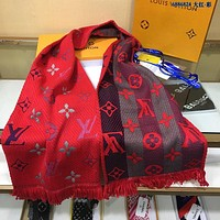 LV Louis Vuitton Fashion Men Women Letter Print Cashmere Scarf Scarves 12