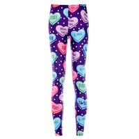 Heart Pattern ABDL DDLG Age Play Little Space Adult Baby Leggings