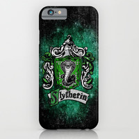 Slytherin team flag iPhone 4 4s 5 5c, ipod, ipad, pillow case, tshirt and mugs iPhone & iPod Case by Three Second