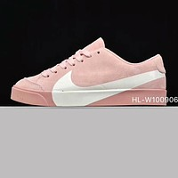 Nike Blazer Autumn Winter New Trending Women Casual Sport Shoes Sneakers Pink(White Hook)