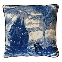 Embroidered Narwhal Pillow