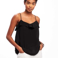 Ruffled Crepe Cami for Women   Old Navy