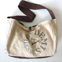 Grain Sack Messenger Paperboy Bag Oversized Messenger