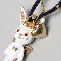 Karmaloop.com - Global Concrete Culture - The Snow Angel Rabbit Necklace by Betsey Johnson