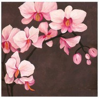 """Graham & Brown Hand Painted Orchid Canvas Art - 28"""" X 28"""" - 43284 - All Wall Art - Wall Art & Coverings - Decor"""