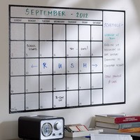 Dry-Erase Calendar Decal, White