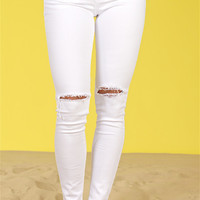 Are You That Somebody Skinny Jeans - White Wash