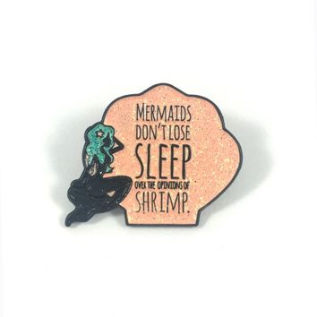 Lapel Pins - Quirky Mermaid Lapel Pin in Pink