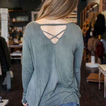 In Action Top - Olive