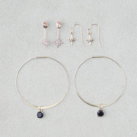 AEO Ear Jackets & Hoops 3-Pack Earrings, Mixed Metal