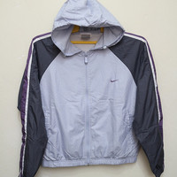 Vintage NIKE Hooded Women Jacket Windbreaker
