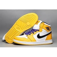 Air Jordan 1 Retro Og Hg - Lakers