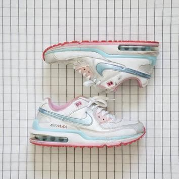 90's Nike AIRMAX, Baby Pink& Blue BB Girl Sneakers, Cyber Angel, Pastel Goth, Aestheti