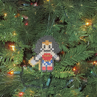 Wonder Woman Inspired Bead Sprite Ornament, Magnet, or Wall Decor