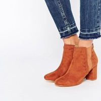 Boohoo Stitch Detail Block Heeled Ankle Boot