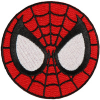 Spider-Man Men's Eyes Embroidered Patch Red