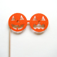 Halloween Jack O'Lantern glasses on a stick photo booth prop