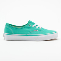 Vans Authentic Womens Shoes Pool Green/True White  In Sizes