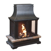 Sevilla Wood Burning Outdoor Fireplace   Overstock.com Shopping - The Best Deals on Fireplaces & Chimineas