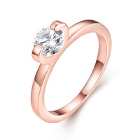 Diamond 18k Rose Gold Plated Ring