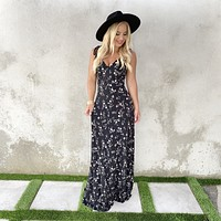 Infinite Garden Black Floral Maxi Dress