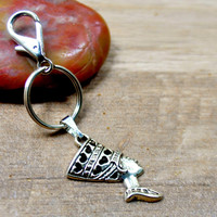 African Queen, Queen Gifts , Gift For Her, Nefertiti  Key Chain, Egyptian Key Chain, Nefertiti Bag Charm , Queen Key Ring,  Natural Beauty
