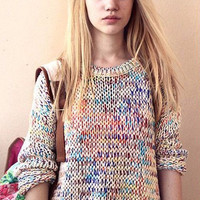 Multi Color Knitted Pullover