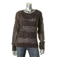 RD Style Womens Knit Open Stitch Pullover Sweater