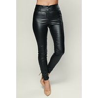 Do As You Please Faux Leather Pants (Black)