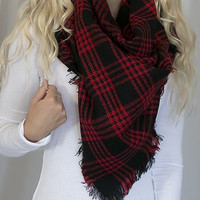 Plaid To See You Blanket Scarf
